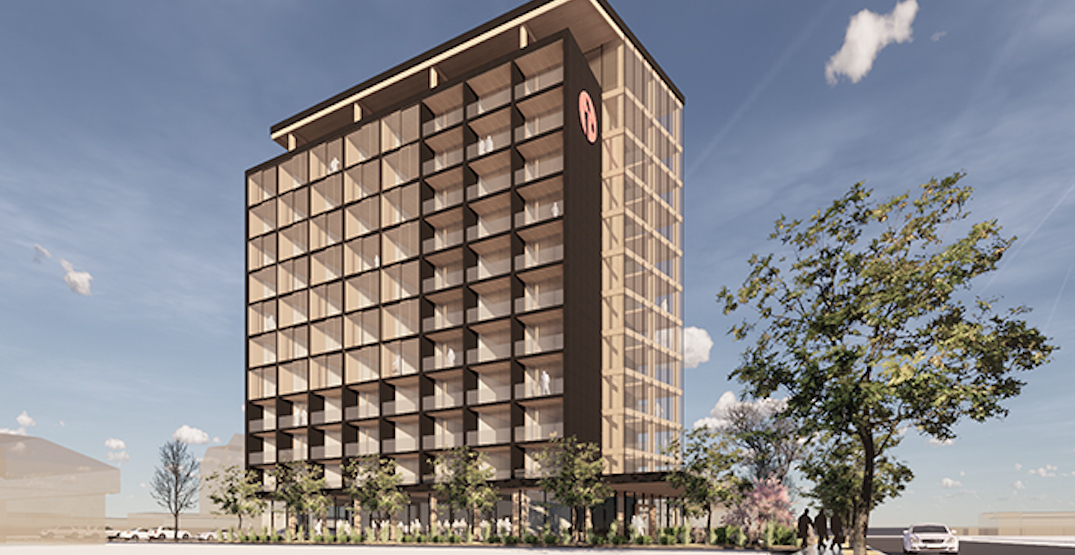 12-storey wooden hotel tower proposed for Kelowna