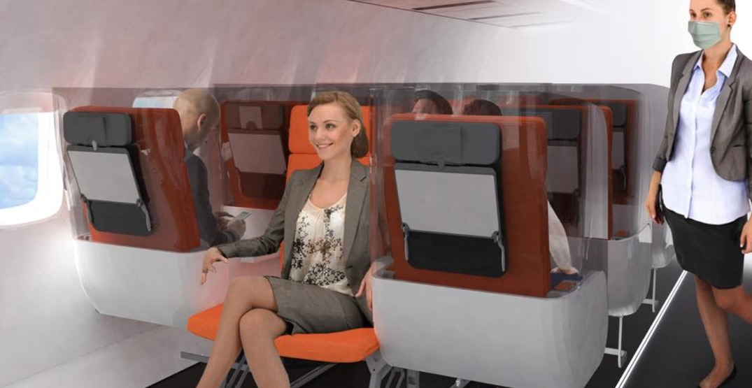 A new airplane seat could protect passengers from viruses (PHOTOS)