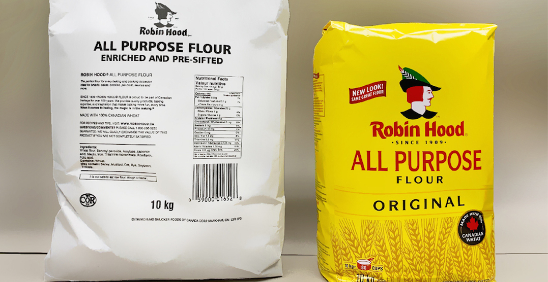 Robin Hood switches to white flour bags to restock shelves faster
