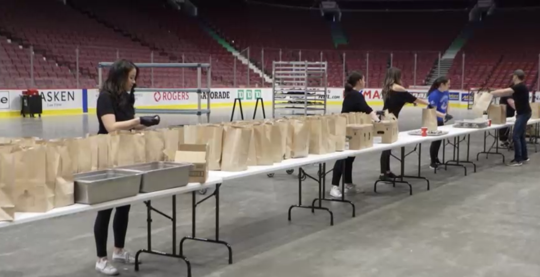 Canucks are providing free meals for families on the Downtown Eastside