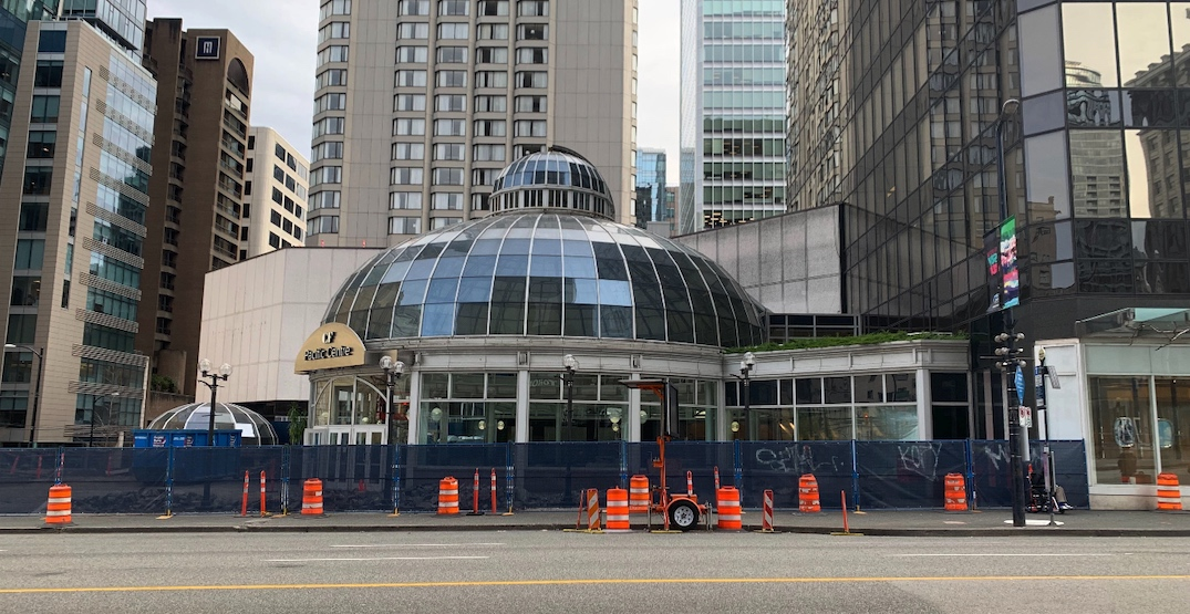 Demolition underway for CF Pacific Centre's iconic glass dome (PHOTOS)