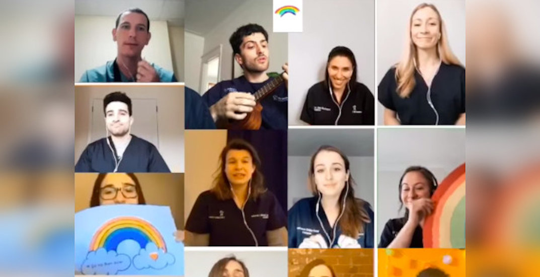 """Montreal hospital medical staff sing """"Over The Rainbow"""" (VIDEO)"""