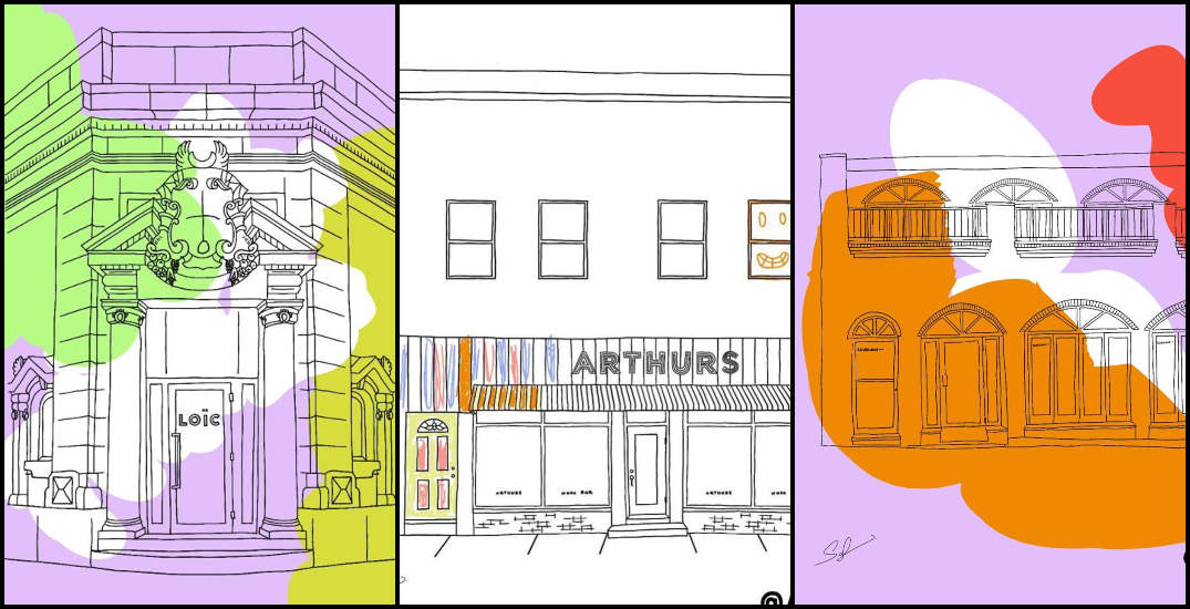 Spend some time colouring well-known Montreal restaurants for a good cause