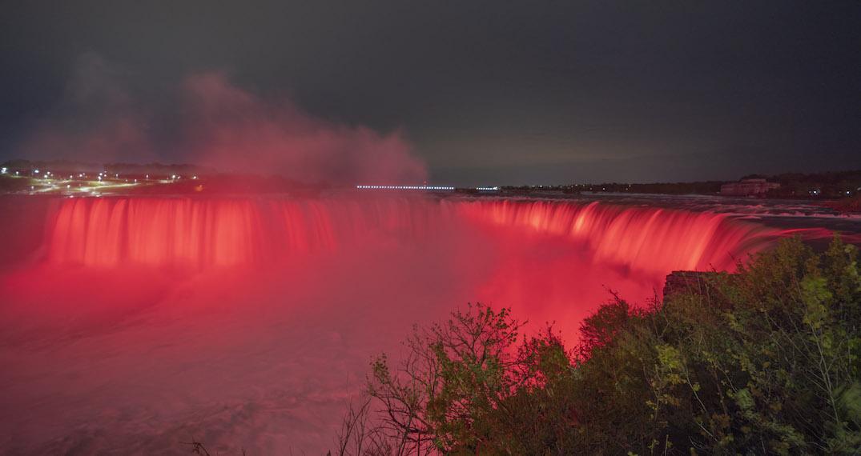 Niagara Falls to be illuminated red honouring Nova Scotia shooting victims