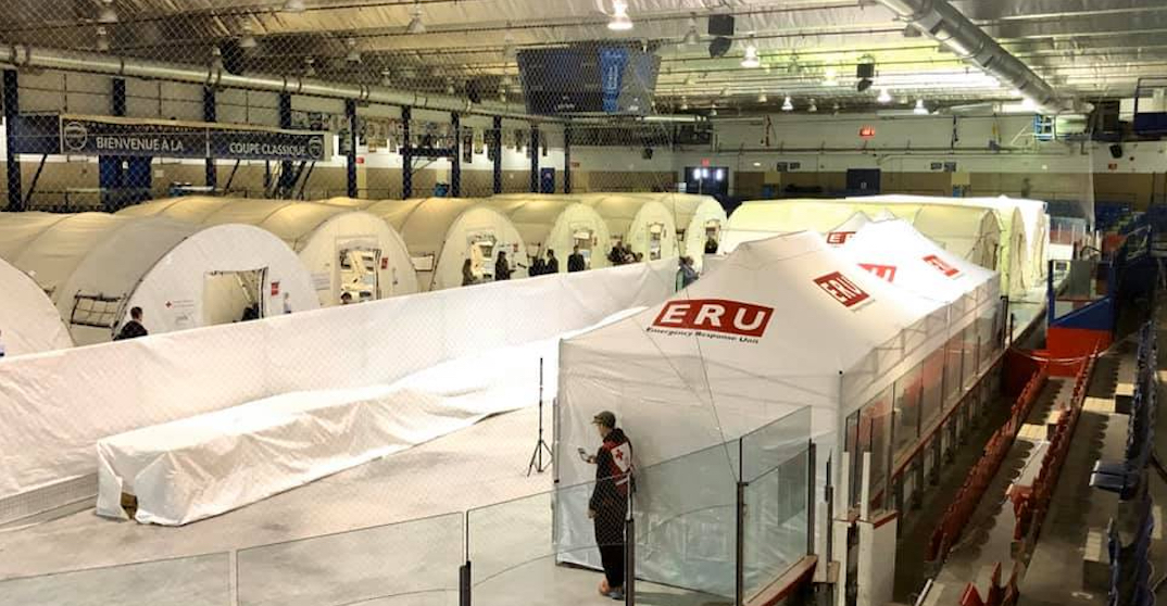 "Montreal hockey arena turns into temporary ""mobile hospital"" for coronavirus patients"