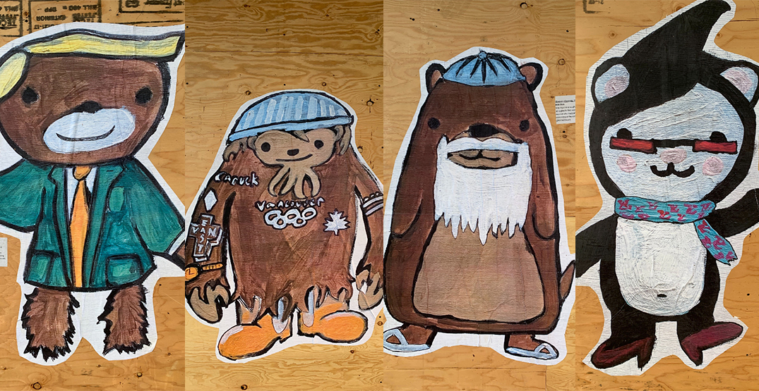 "Vancouver's beloved 2010 Olympic mascots ""return"" as street art (PHOTOS)"