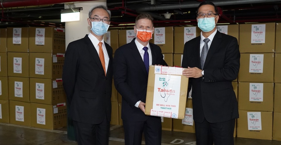 Taiwan donates 500,000 surgical masks to Canada