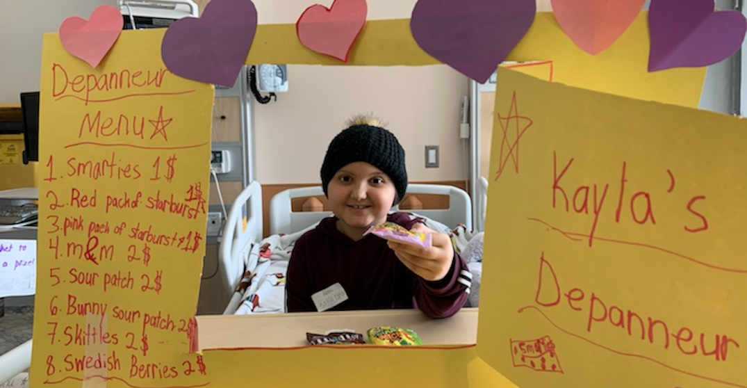 "10-year-old cancer patient offers ""essential"" candies to hospital staff"