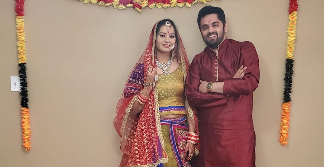 Couple's traditional Indian wedding held entirely online amid pandemic