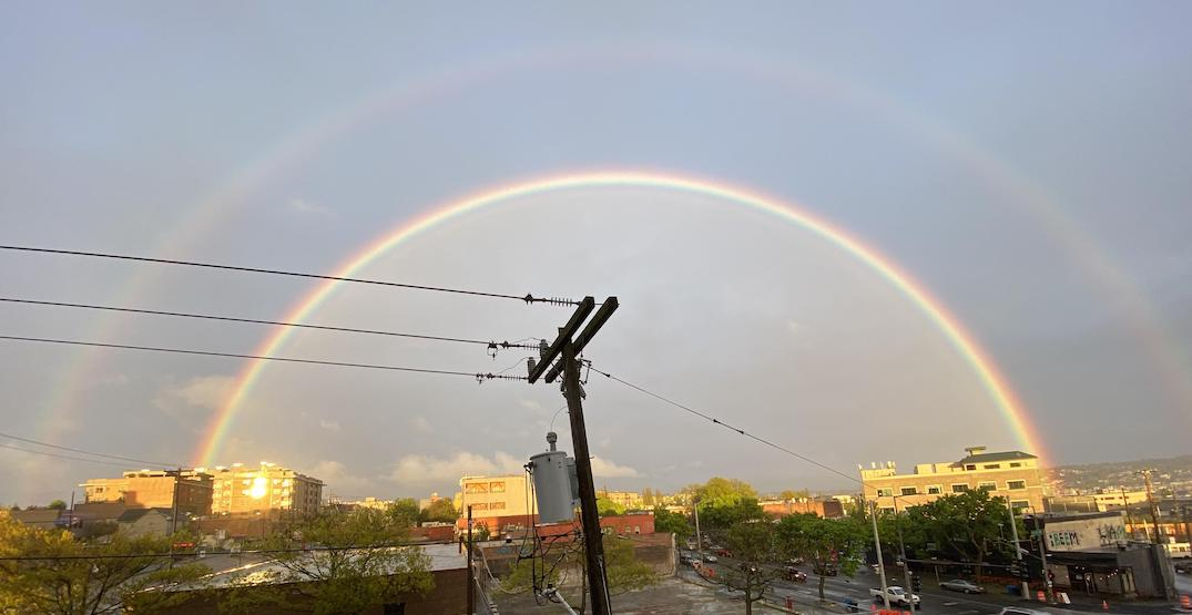 A full double rainbow spotted in Ballard (PHOTOS)