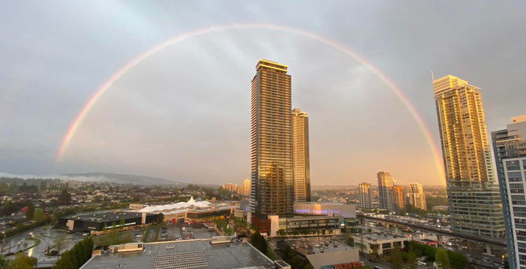 Beautiful rainbow spotted over Metro Vancouver at sunset (PHOTOS)