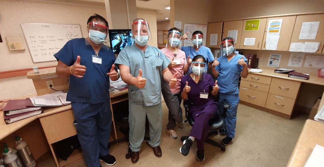 face shields hospital workers ppe