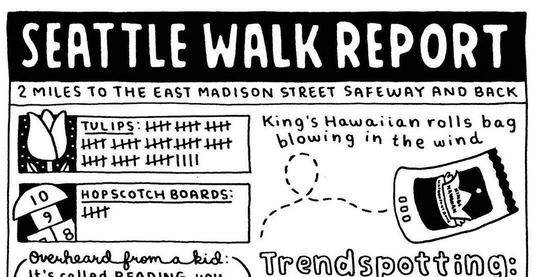 This Seattle-based illustrator creates cartoons of her walks around the city
