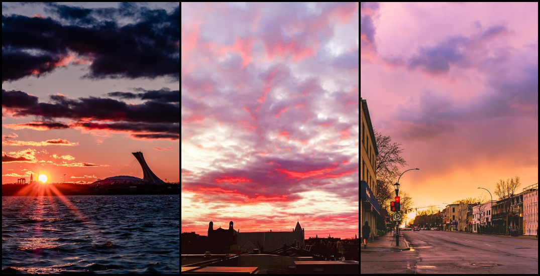 "21 shots of last night's beautiful ""cotton candy"" sunset in Montreal (PHOTOS)"