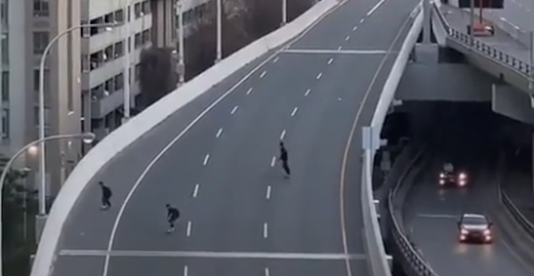 Skateboarders fined for allegedly shredding on the Gardiner Expressway (VIDEO)