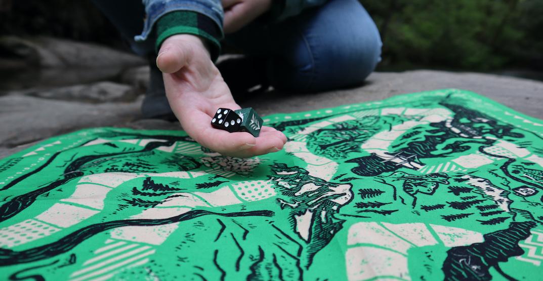 A new Washington-themed board game doubles as a bandana