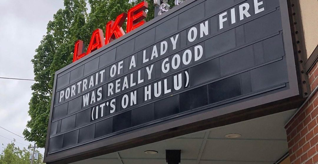Theater in Lake Oswego promoting stay-home life with hilarious marquees (PHOTOS)