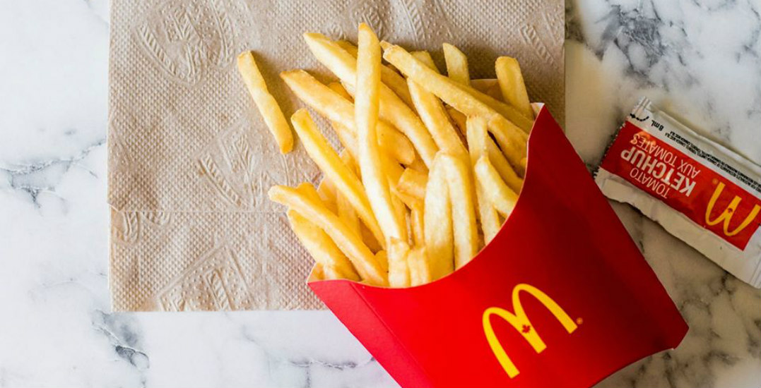 Eating McDonald's french fries is a delicious way to support Canadians in need
