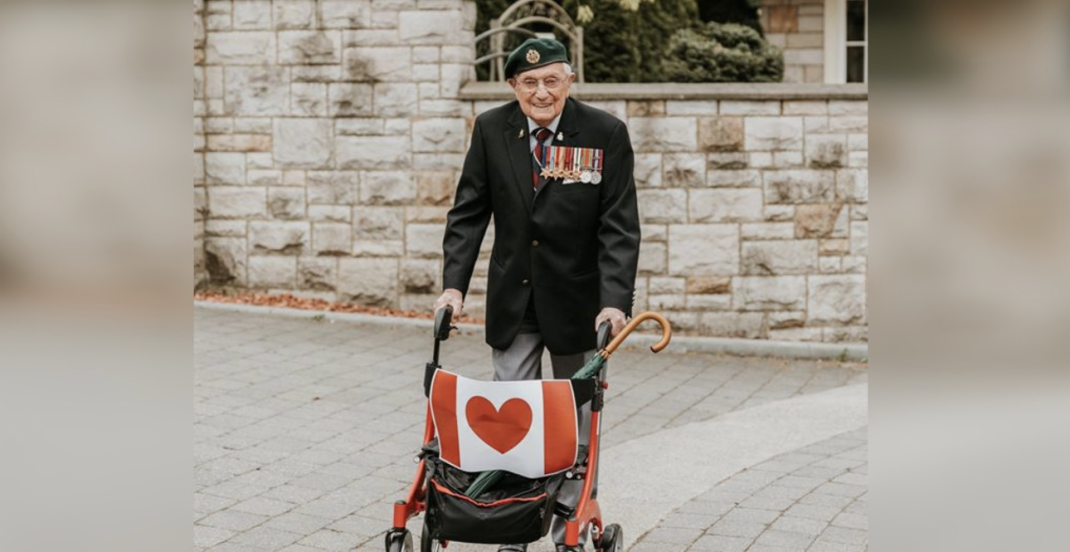 101-year-old Canadian veteran walks to raise $101K for COVID-19 relief