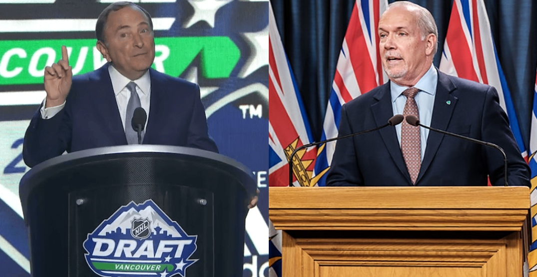 Here's the letter BC Premier John Horgan wrote to NHL Commissioner Gary Bettman