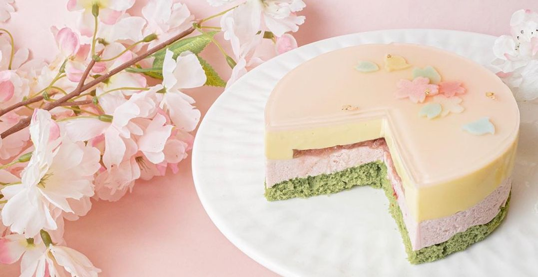 Sakura-themed desserts are finally available for delivery in Toronto
