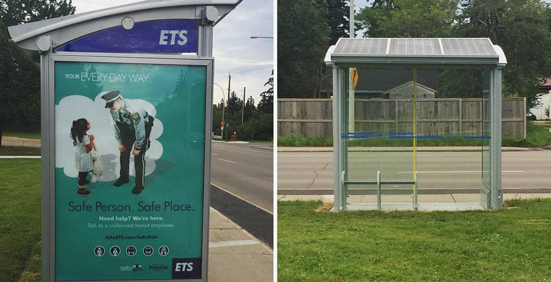 Vandals smash glass of 43 Edmonton bus shelters