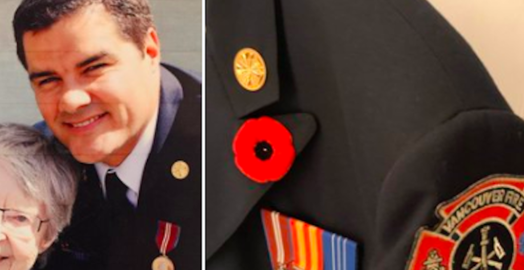 Vancouver fire chief's medals and uniform stolen from work truck
