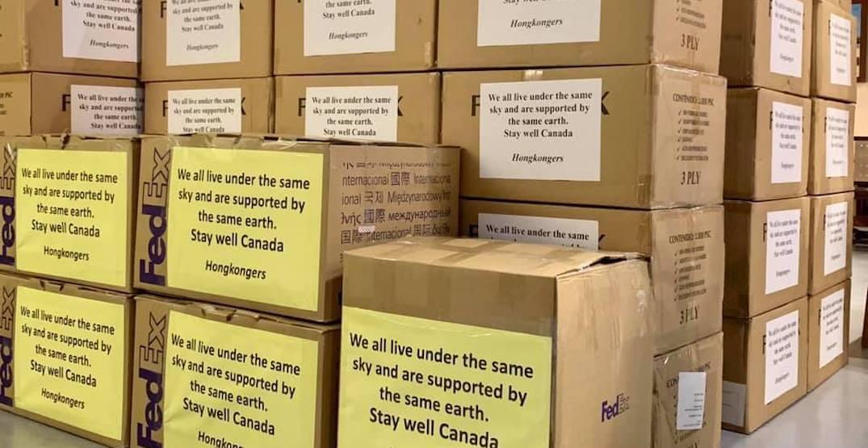 Hong Kong pro-democracy supporters donating 120,000 masks to Canada
