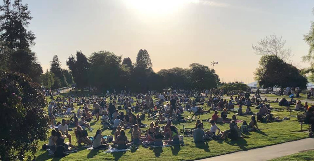 Crowds flock to Vancouver beaches and parks as weather warms up
