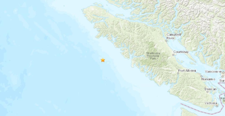 Magnitude 4.5 earthquake strikes off the coast of Vancouver Island