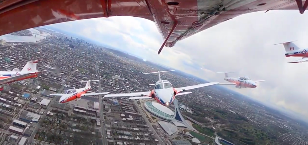 Check out the Snowbirds footage from over top Montreal (VIDEO)