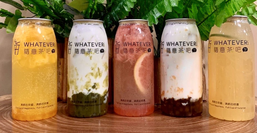 "New bubble tea spot ""Whatever Tea Bar"" is softly open in Burnaby"