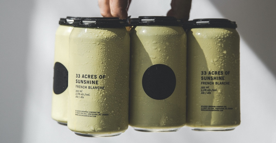 You can now get 33 Acres of Sunshine in cans