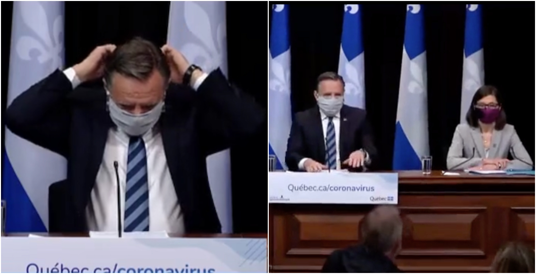 """Legault """"strongly suggests"""" Quebecers wear face masks when leaving the house"""