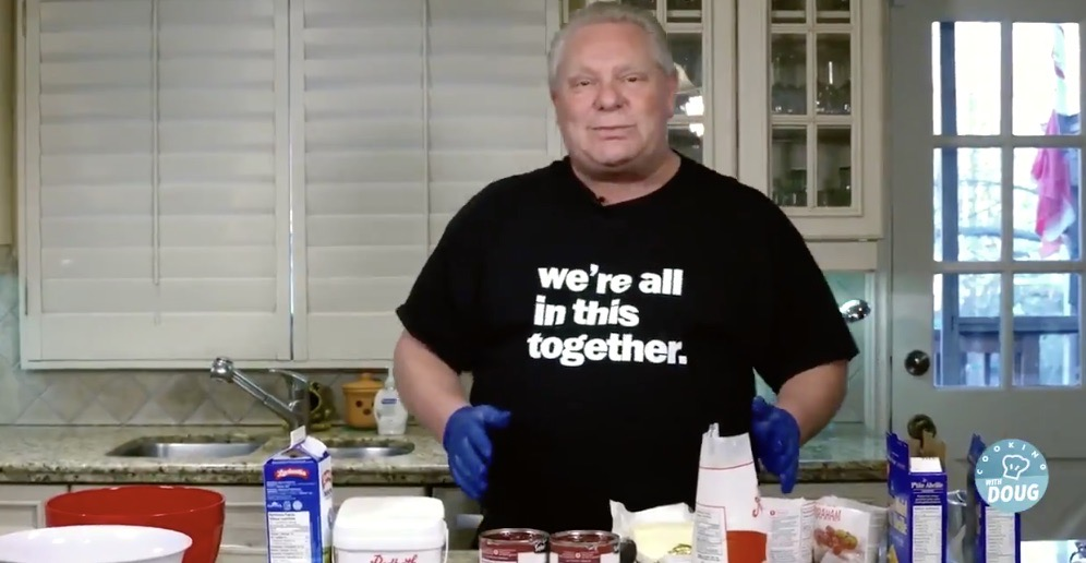 """Doug Ford is releasing his """"famous"""" cherry cheesecake recipe tomorrow"""