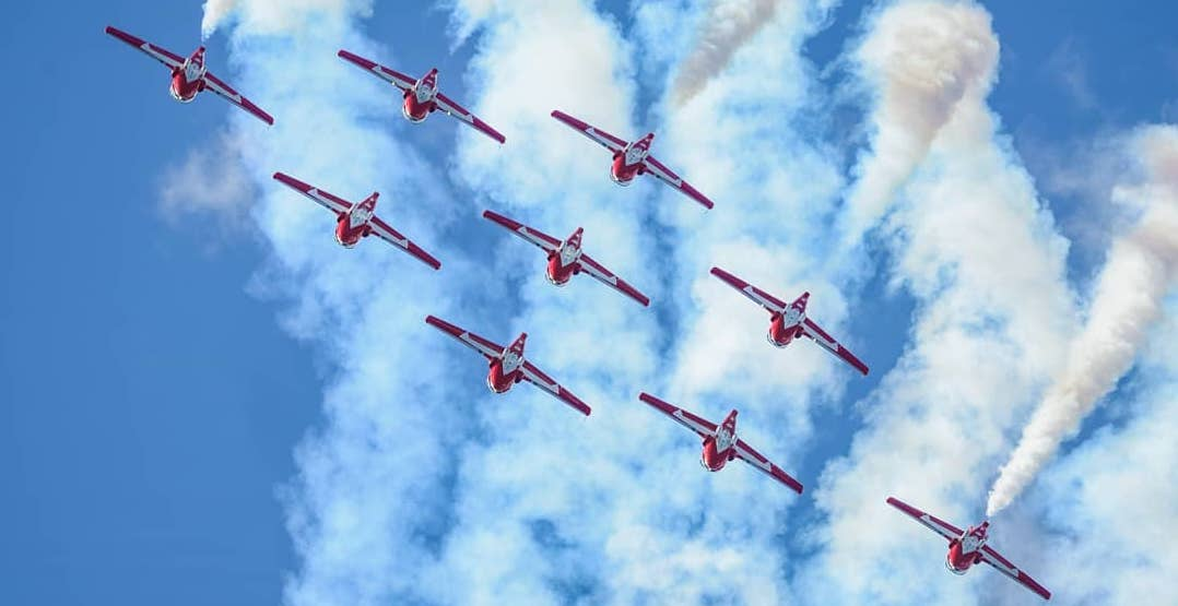 Canadian Forces Snowbirds are flying over BC Saturday afternoon