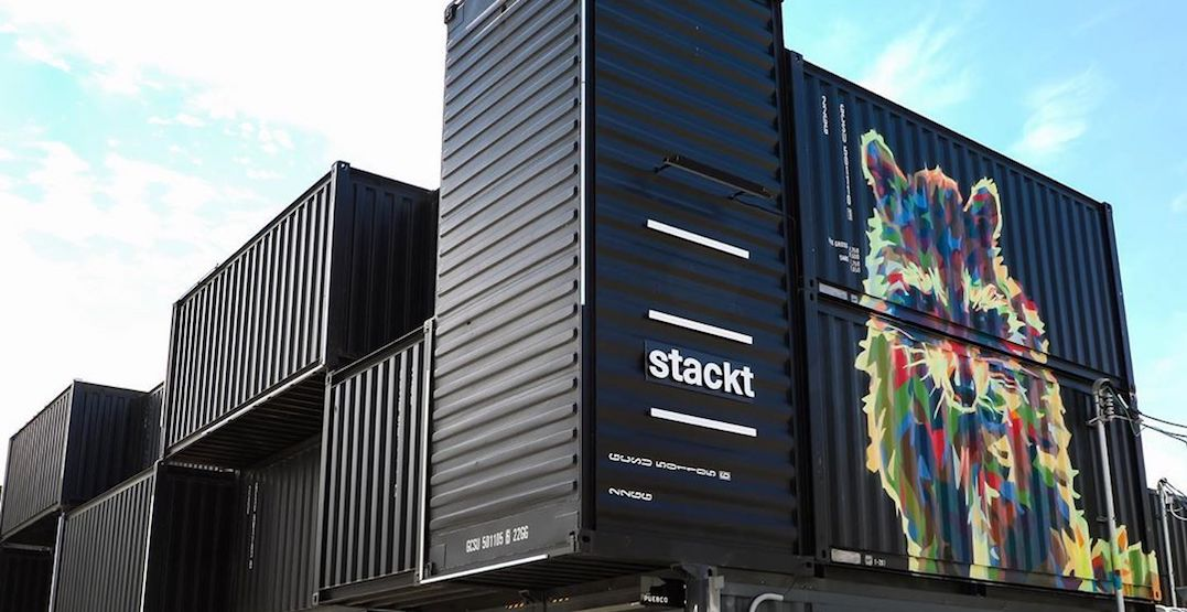 Shipping container market stackt launches online shop with contactless pickup