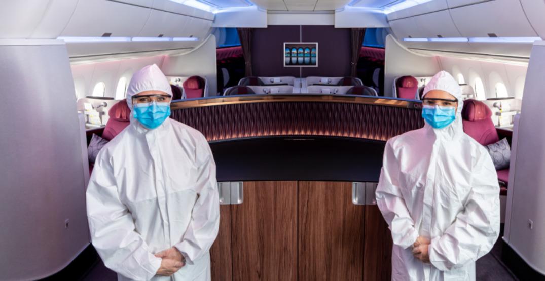 "Qatar Airways cabin crew will wear hazmat suits for ""even greater reassurance"""