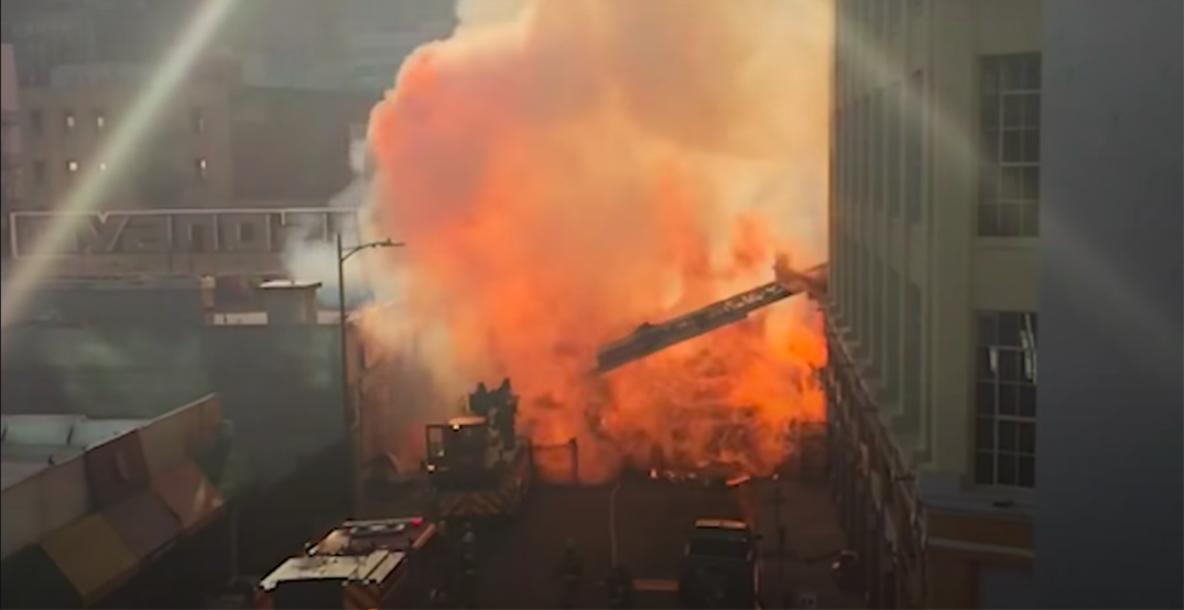 Fireball injures 11 rescue workers in reported cannabis extraction explosion (VIDEO)