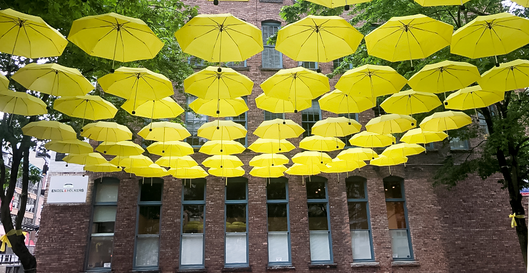 Umbrella art installation brings message of hope to Yaletown (PHOTOS)