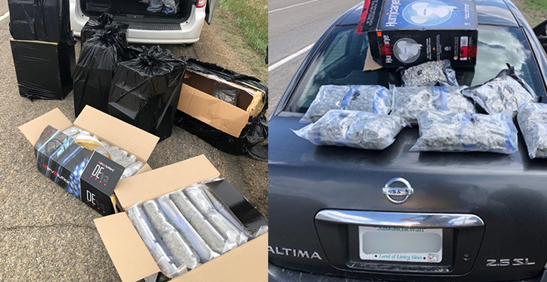 RCMP net four large drug busts on one stretch of road in less than a week