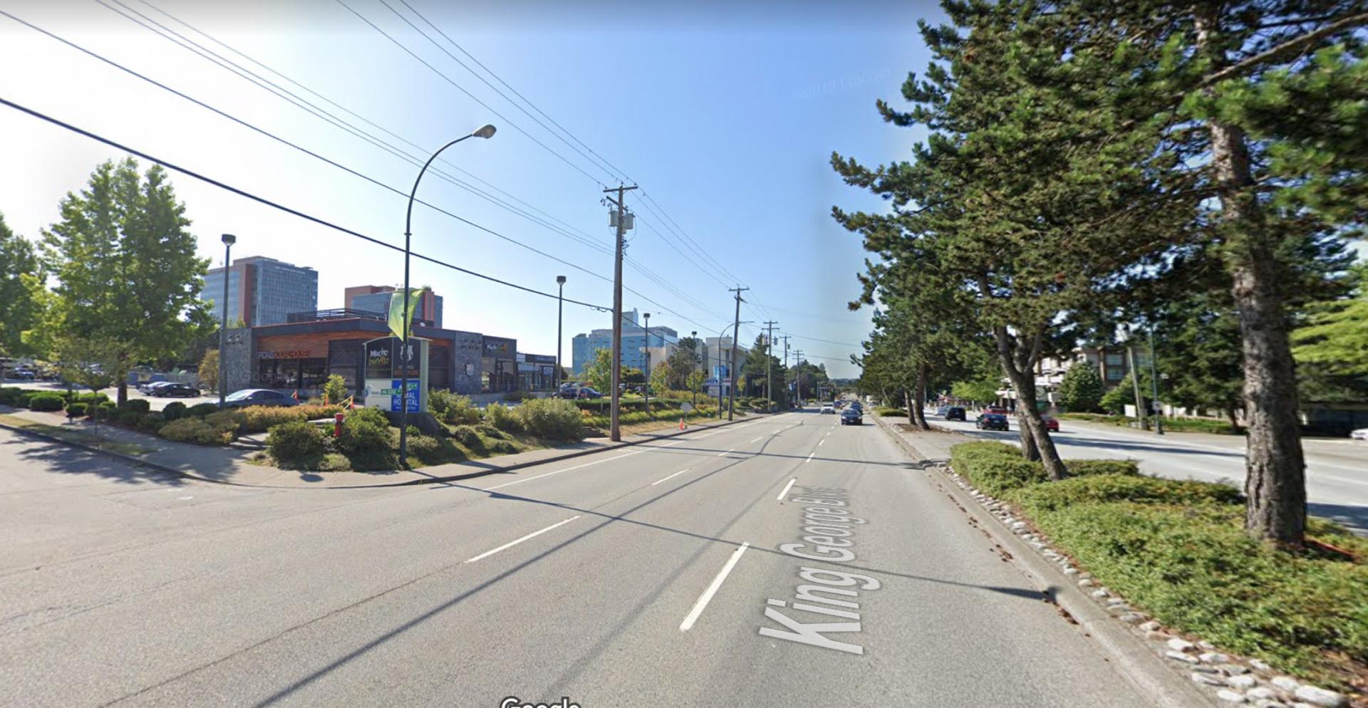 Multi-vehicle crash in Surrey closes King George Boulevard