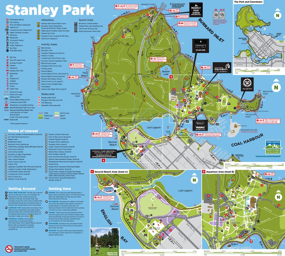 stanley park map