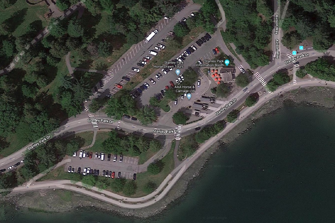 stanley park parking information booth