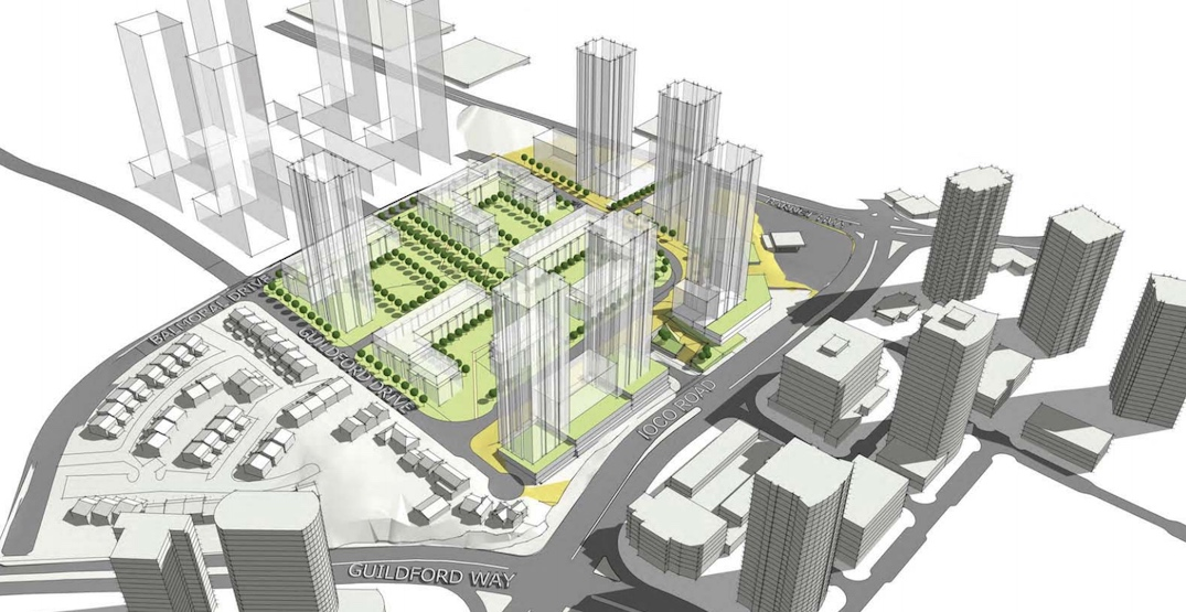 2,800 homes proposed next to SkyTrain's Inlet Centre Station