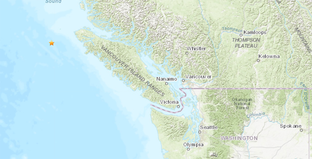 Magnitude 5.2 earthquake strikes off the coast of Vancouver Island