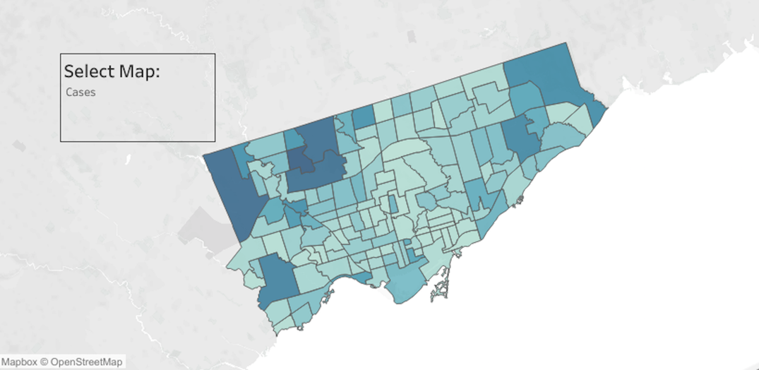 These are the neighbourhoods with the most and least coronavirus cases in Toronto