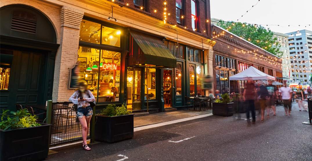 Portland launches program to let local businesses set up on city sidewalks