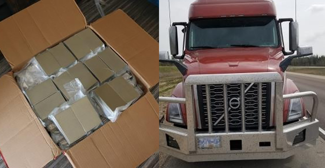 1,250 pounds of cannabis and hash seized from semi-truck