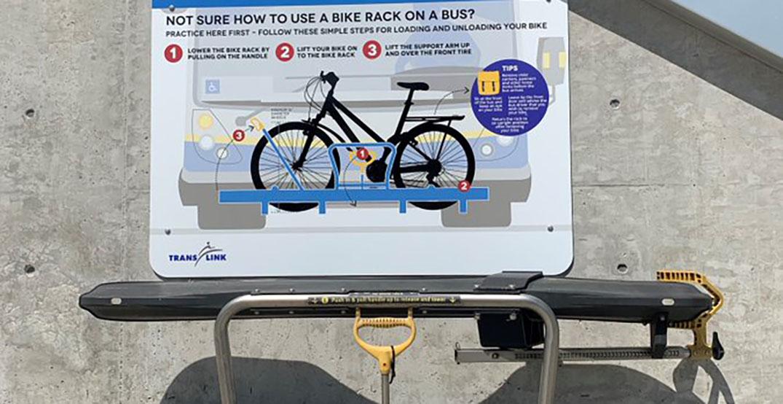 TransLink unveils new practice bike racks at SkyTrain stations
